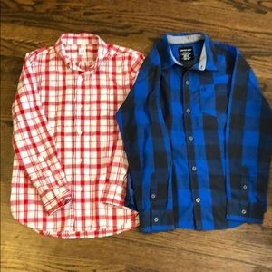 Two Boys Button Up Tops